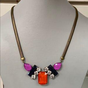 Orange, Navy, and Purple Loren Hope necklace